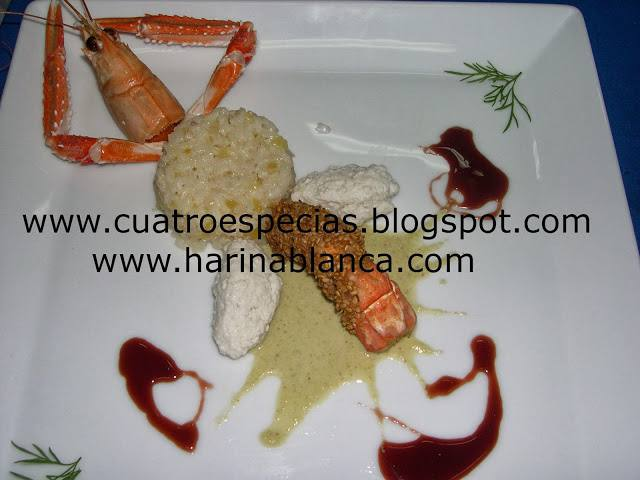 rodaballo con arroz tropical